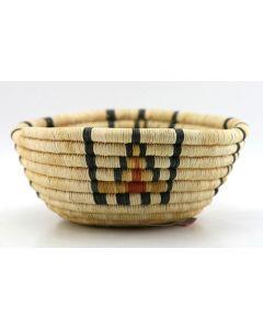 """Hopi Polychrome Coiled Basket, c. 1960, 3"""" x 7.75"""""""