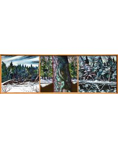 James Woodside - Magalloway River Triptych