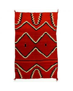 "Navajo Child's Blanket, c. 1870, 54.5"" x 37.5"""