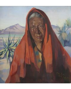 SOLD Hans Paap (1894-1966)- Indian of the Desert