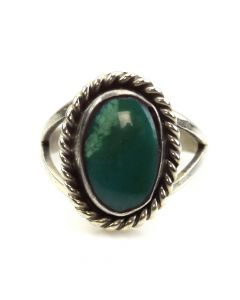 Rose Jackson - Navajo Turquoise and Silver Ring c. 1960s, size 4