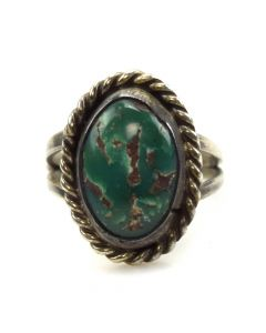 Rose Jackson - Navajo Turquoise / Silver Ring c. 1960s, size 4