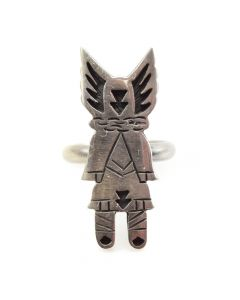 Hopi Guild Kachina Design Ring c. 1960-70s, size 6