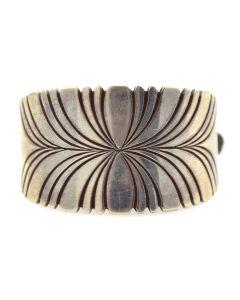"Navajo Silver Hair Clip c. 1960-70s, 1"" x 2"""