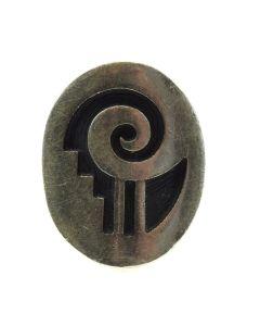 Elsie Yoyokie - Hopi Silver Overlay Ring c. 1970s, size 6.5