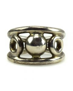 Mexican Silver Ring c. 1960s, size 6