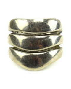 Mexican Silver Ring c. 1950s, size 7