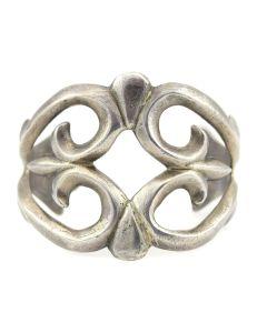 Navajo Silver Sandcast Bracelet c. 1950s, size 6.5