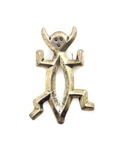 """Patrick Yellowhorse - Navajo Sterling Silver Kachina Pin c. 1960s, 2.5"""" x 1.625"""