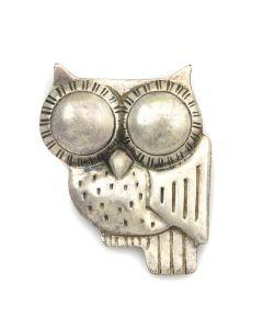 """William Philip Spratling (1900-1967) - Mexican Owl Pin c. 1940-1944, 2.25"""" x 2"""""""