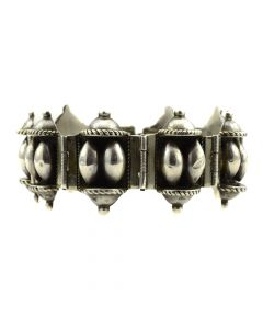 Mexican Sterling Silver Linked Bracelet c. 1950s, size 7