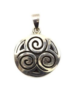 """Mexican Sterling Silver Pendant c. 1980s, 1.75"""" x 1.25"""""""