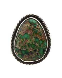 Mark Chee - Navajo Turquoise and Silver Ring c. 1950s, size 4