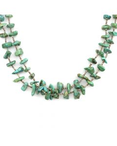 "Santo Domingo Turquoise and Heishi Necklace c. 1950-60s, 32"" length"