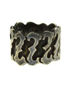Mexican Silver Ring c. 1980s, size 7.25 (J11252)