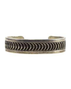 Navajo Sterling Silver Bracelet c. 1960s, size 6