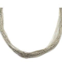 """Navajo Liquid Silver Necklace c. 1970s, 29"""" length (J11598)"""