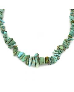 "Navajo Natural Turquoise Necklace c. 1960s, 26"" length (J11824)"