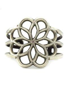 Navajo Silver Bracelet c. 1960s, size 6.25 (J11887)