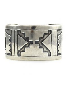 Victor Coochwytewa - Hopi Silver Overlay Bracelet c. 1950s, size 7 (J11907)1