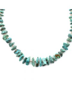 "Navajo Turquoise and Heishi Necklace c. 1970s, 16"" length (J11923)"
