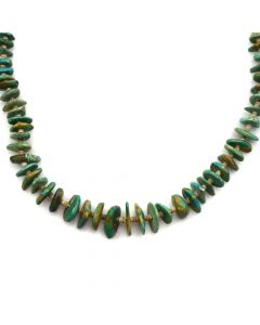 "Navajo Turquoise and Heishi Necklace c. 1960s, 22"" length (J11926)"