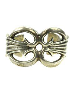 Navajo Silver Sandcast Bracelet c. 1950s, size 6 (J11961)