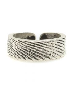 Gino Antonio - Contemporary Navajo Sterling Silver Cuttlebone Cast Ring, size 6.75 (J12180)