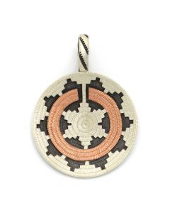 "Roland Begay - Navajo Contemporary Sterling Silver and Copper Overlay Wedding Basket Pendant, 1.75"" x 1.25"" (J12505)"