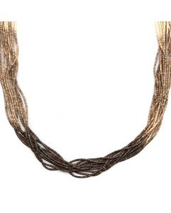 "Ramona Byrd - Santo Domingo (Kewa) Contemporary 10-Strand Ombre Heishi Necklace, 26"" length (J12697)"