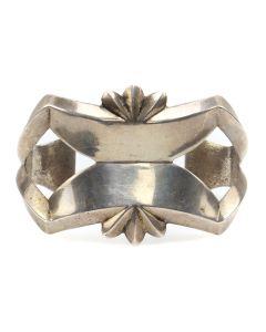Navajo Silver Sandcast Bracelet c. 1950-60s, size 6.25 (J12807-CO)