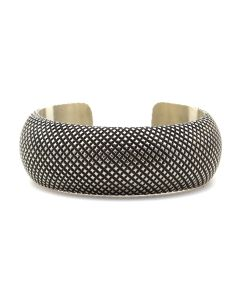 Ernest Bilagody (b. 1955) - Navajo Sterling Silver Bracelet c. 1980s, size 6.5 (J12901)