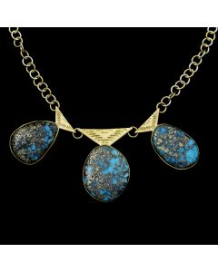 Sam Patania - Mark Sublette Collection - Kingman Turquoise and 18Kt Gold Necklace