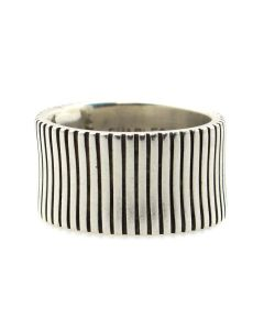 Charles Ortiz (b. 1970) - San Felipe Contemporary Sterling Silver Ring, size 5.5 (J13113-CO)