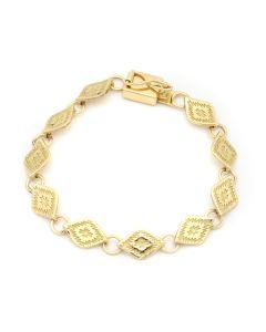 Mark Sublette Collection - Featuring Sam Patania - 18K Gold Link Bracelet, size 7 (J13272)