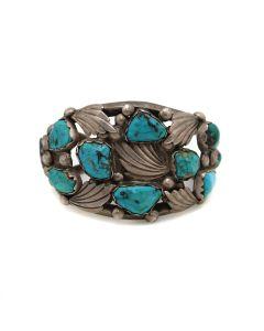 Dan Simplicio (1917-1969) - Zuni Turquoise and Silver Bracelet c. 1940-50s, size 7 (J13452-CO)