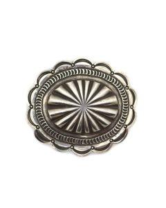 """Navajo Silver Concho Belt Buckle c. 1940s, 2.25"""" x 2.75"""" (J13466-CO)"""