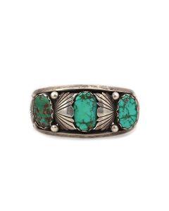 Dan Simplicio (1917-1969) - Zuni Turquoise and Silver Bracelet c. 1960s, size 6.75 (J13926-CO)