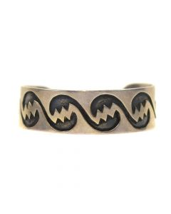 Arlo Nuvayaouma - Hopi Silver Bracelet, c. 1960, Size 6.75
