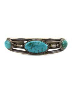 Navajo Turquoise Bracelet, c. 1920, Size 6.75