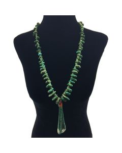 Navajo Turquoise, Shell and Coral Jocla Necklace