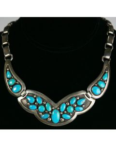 SOLD Frank Patania, Sr. - Morenci Turquoise and Sterling Silver Necklace