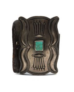 Navajo Turquoise and Silver Ketoh, c. 1910s-20s (J7369)