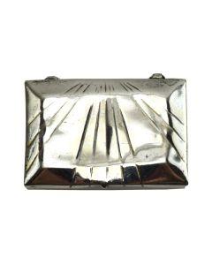 """Navajo Stamped Silver Box c. 1940, 0.25"""" x 1.25"""" x 1"""""""