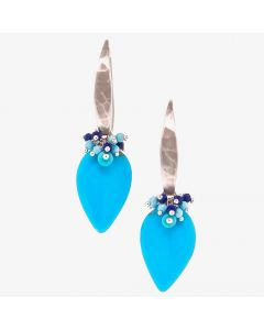 Dana Busch - Cluster Drop Earrings with Sleeping Beauty Turquoise, Lapis Lazuli, Turquoise Howlite & Sterling Silver