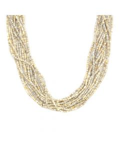 "Contemporary Santo Domingo 14-strand Heishi Necklace, 24"" length"