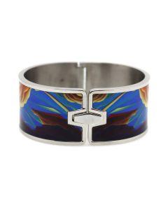"William Haskell - ""Santa Fe Style"" Stainless Steel and Enamel Bracelet"