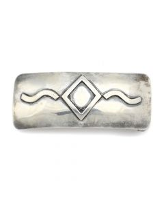 "Alberto Contreras - Mexican Sterling Silver Belt Buckle c. 1980s, 1.25"" x 3"" (J91046-1020-004)"
