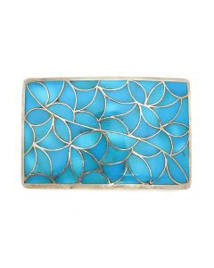 "Frank Vacit (1915-1999) - Zuni Turquoise Channel Inlay and Silver Belt Buckle c. 1960s, 2.125"" x 3.25"" (J91046-1020-010)"