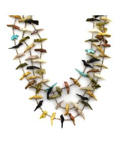 "Andrew Emerson Quam - Zuni Multi-Stone Fetish and Heishi Necklace c. 1960s, 30"" length"